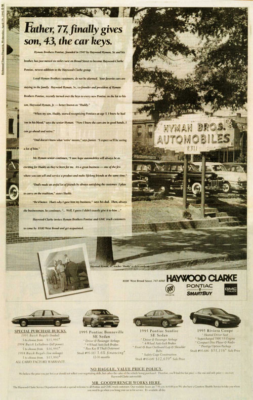 Hyman Bros Automobiles Pre Owned Dealer Richmond