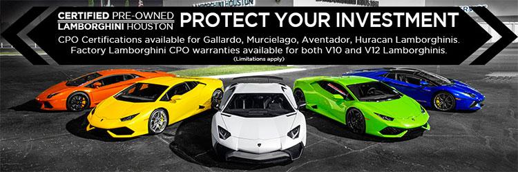 Lamborghini Certified Pre-Owned Vehicle Program